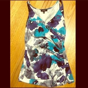 Express XS Watercolor Sleeveless Top